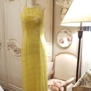 Yellow Papell Boutique floor length gown